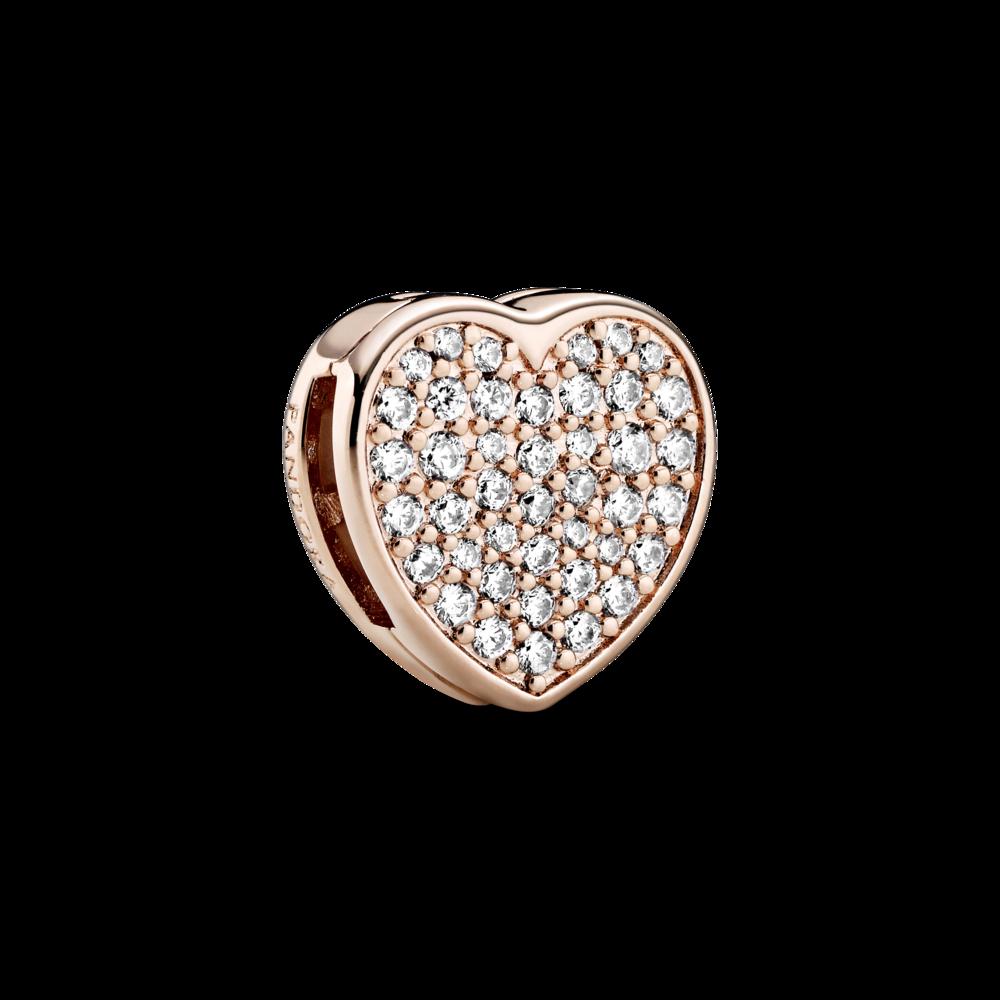 """Намистина """"Серце Pave"""" Pandora Rose™ на браслет Pandora Reflexions"""