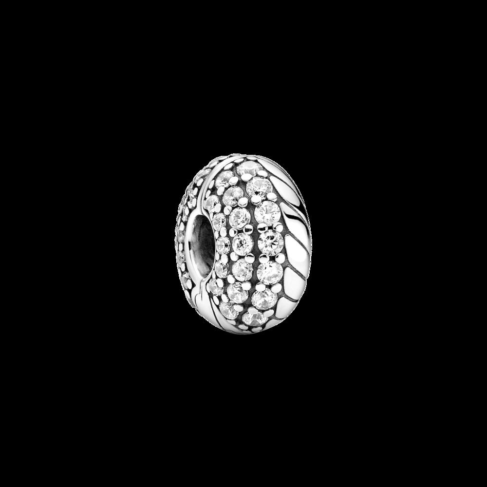 Намистина-кліпса з ланцюжковим орнаментом