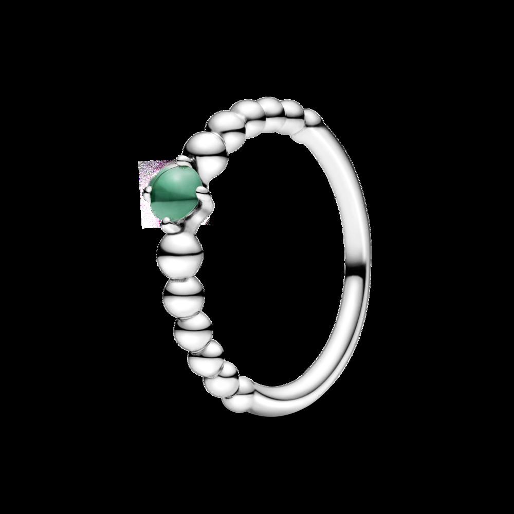 Каблучка з каменем тропічно-зеленого кольору