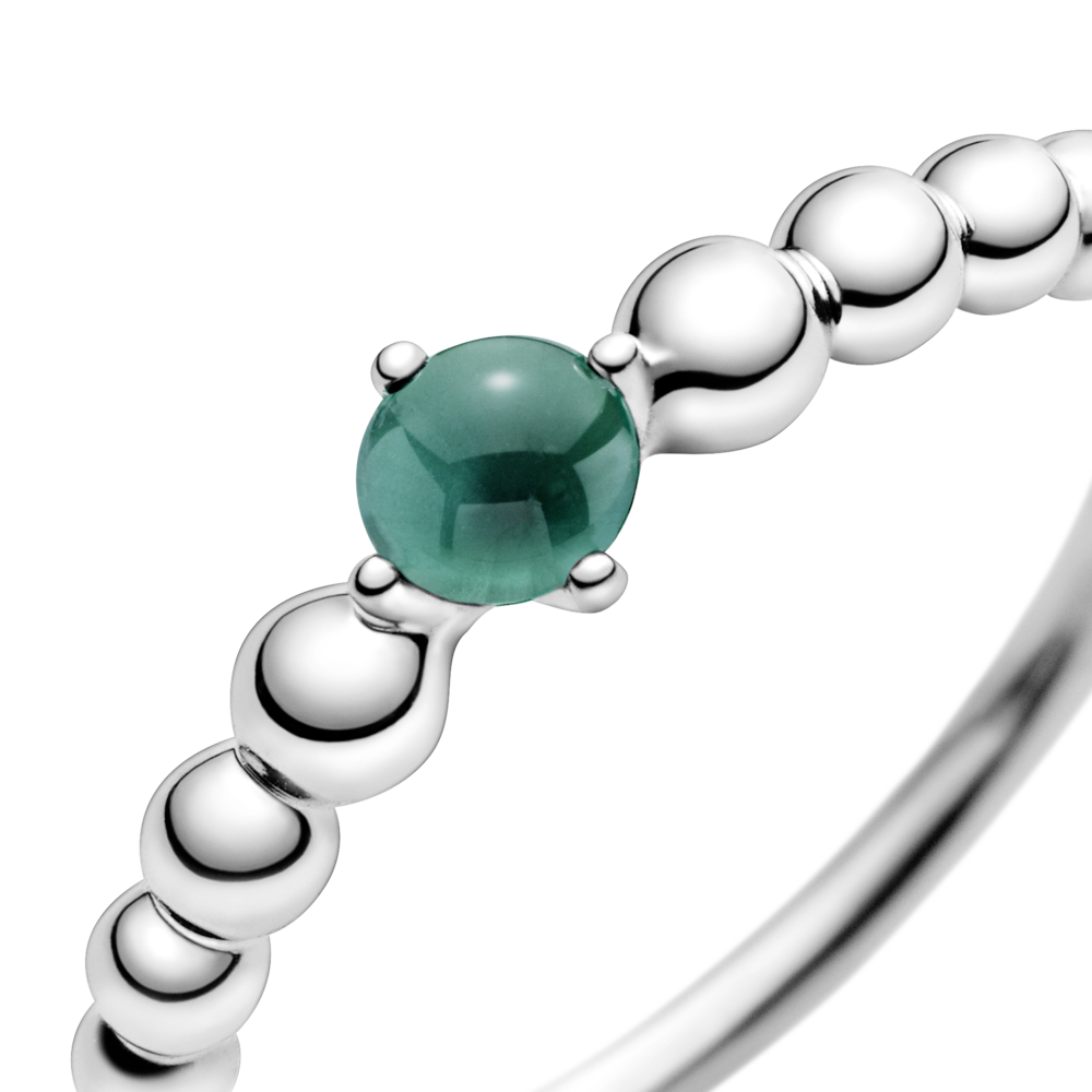 Каблучка з каменем тропічно-зеленого кольору — фото 2