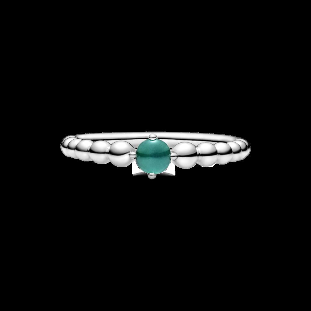 Каблучка з каменем тропічно-зеленого кольору — фото 3