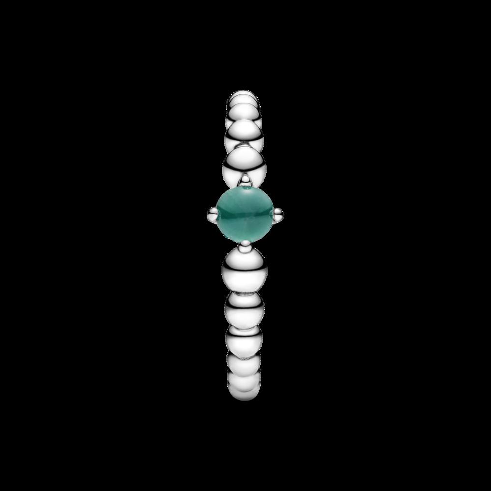Каблучка з каменем тропічно-зеленого кольору — фото 5