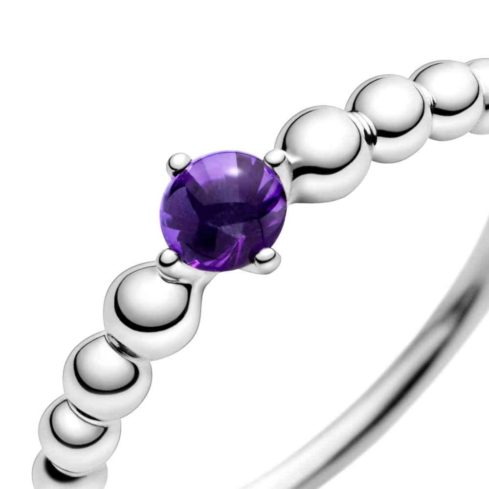 Каблучка з каменем пурпурового кольору — фото 2