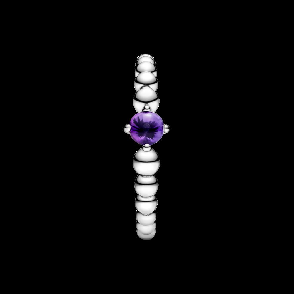 Каблучка з каменем пурпурового кольору — фото 3