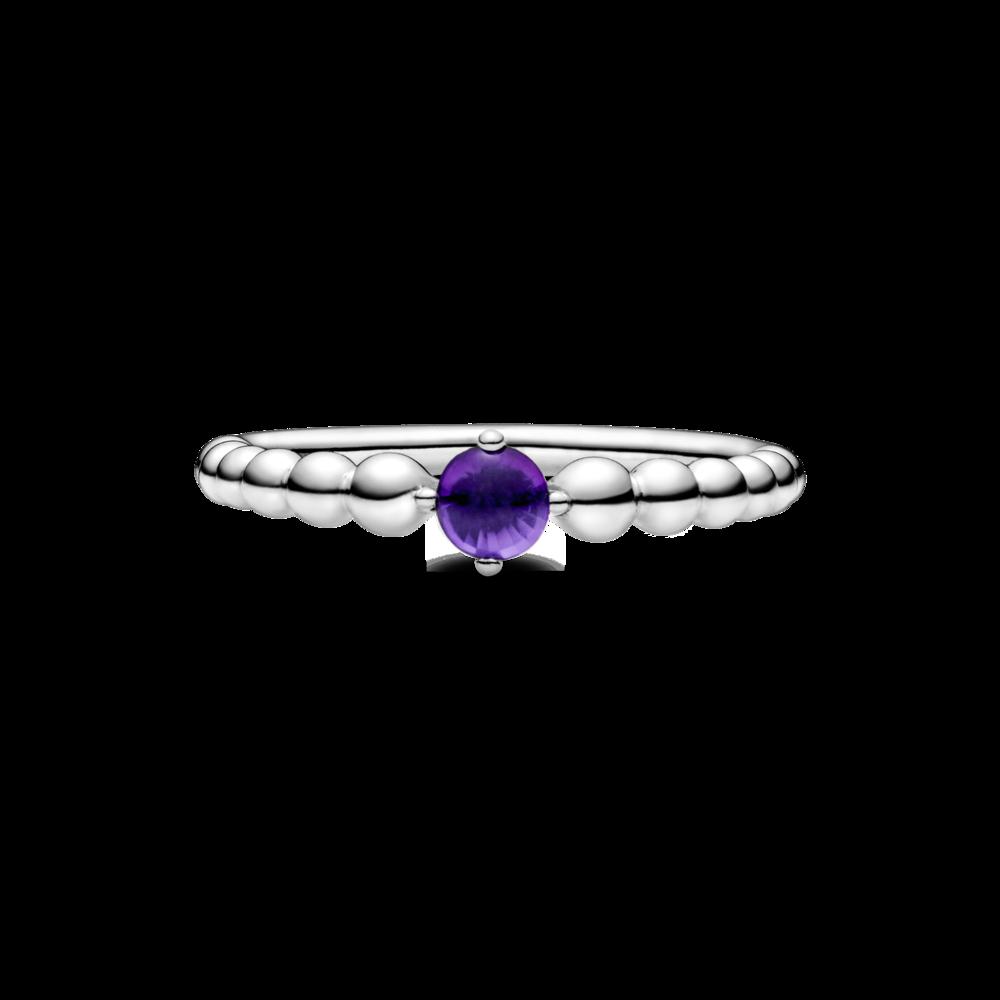 Каблучка з каменем пурпурового кольору — фото 5