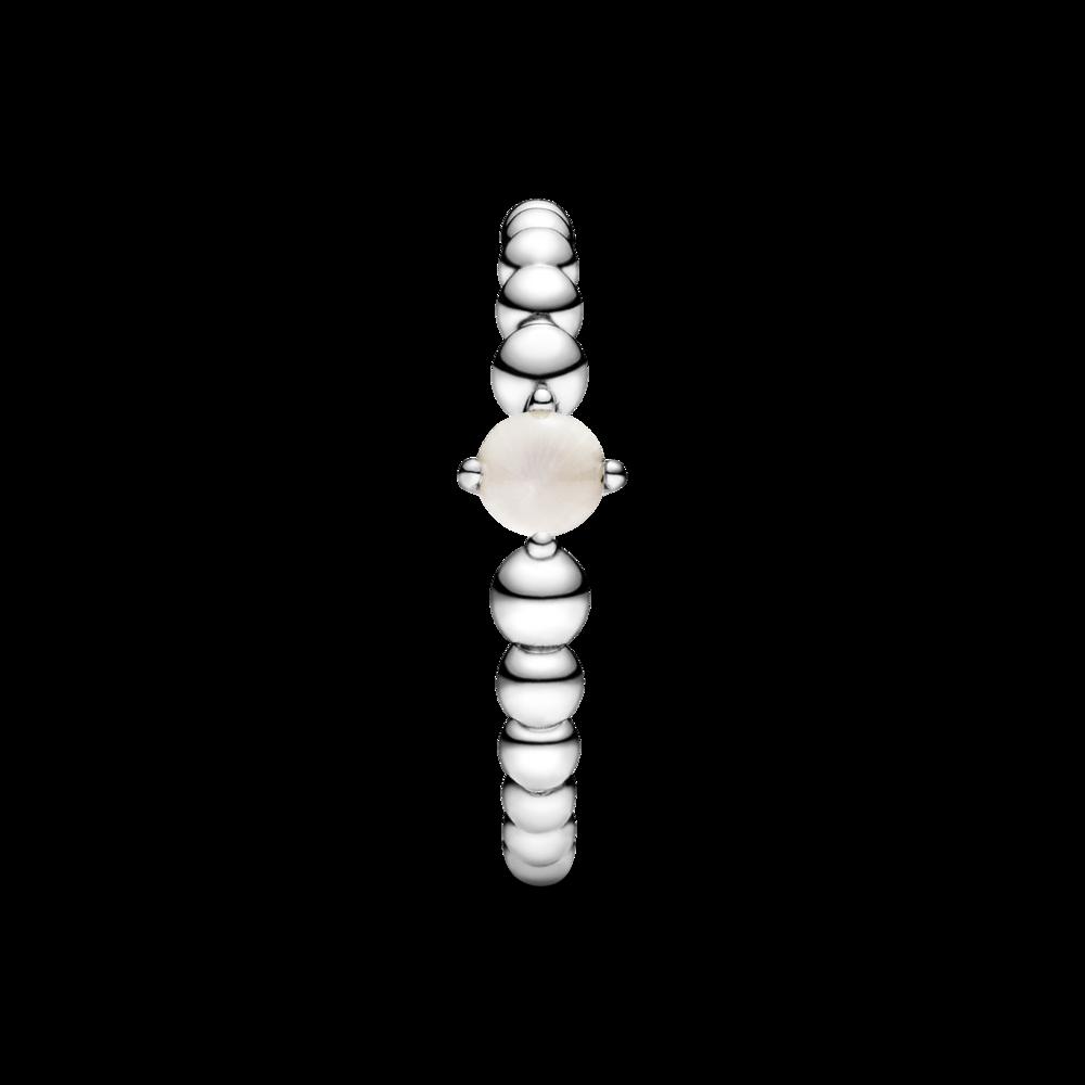 Каблучка з каменем пудрового кольору — фото 5