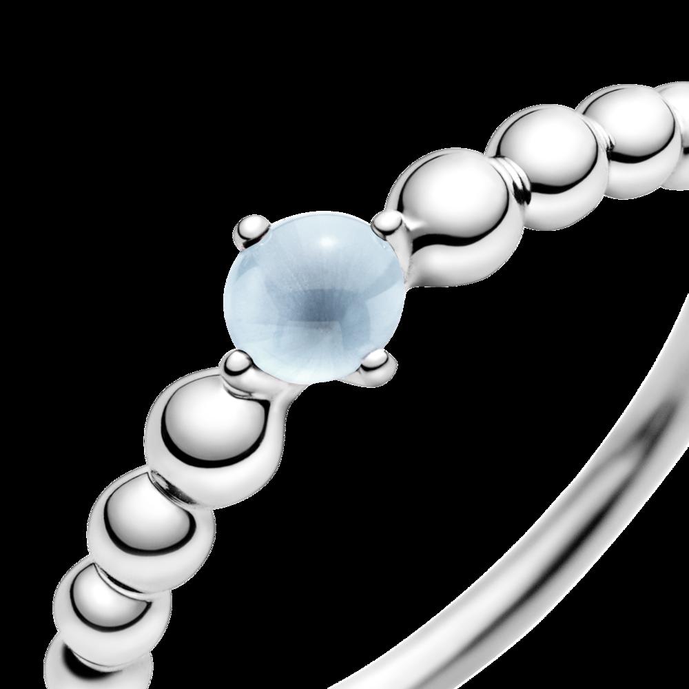 Каблучка з каменем небесно-блакитного кольору — фото 2