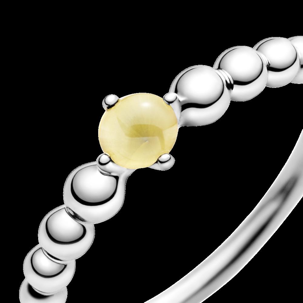 Каблучка з каменем медового кольору — фото 2