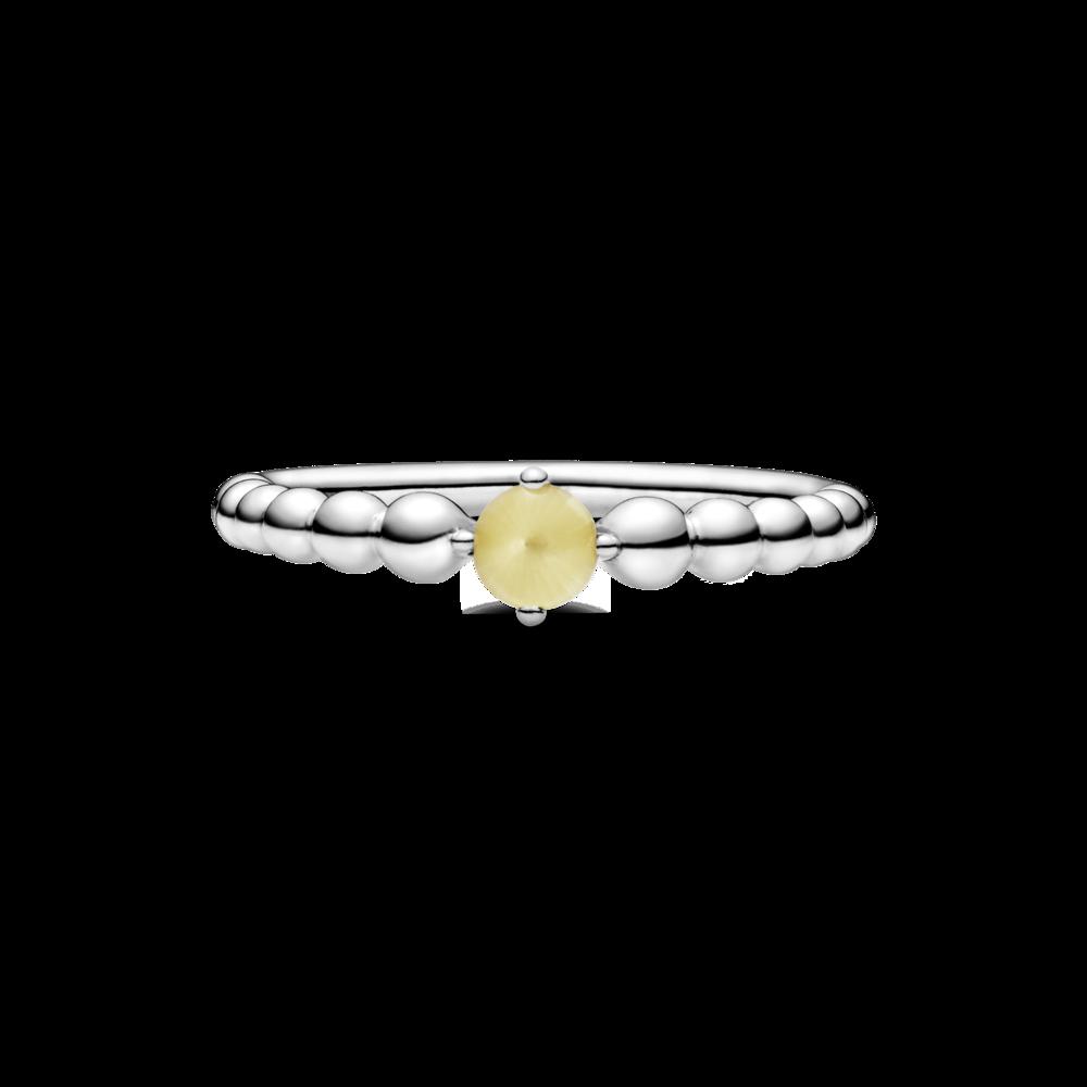Каблучка з каменем медового кольору — фото 3
