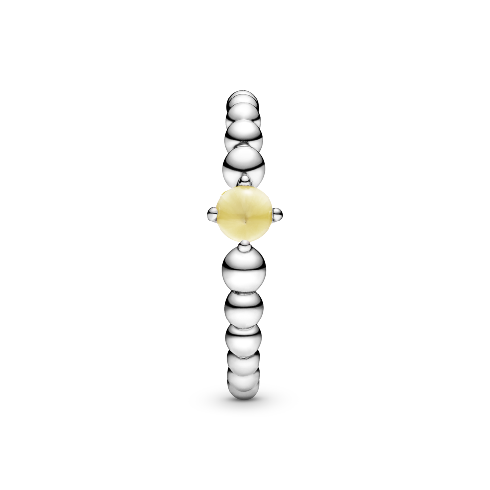 Каблучка з каменем медового кольору — фото 5