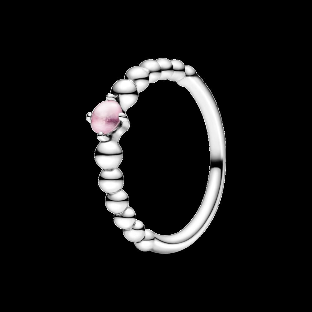 Каблучка з каменем квітково-рожевого кольору