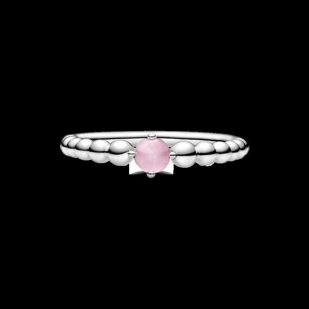 Каблучка з каменем квітково-рожевого кольору — фото 3