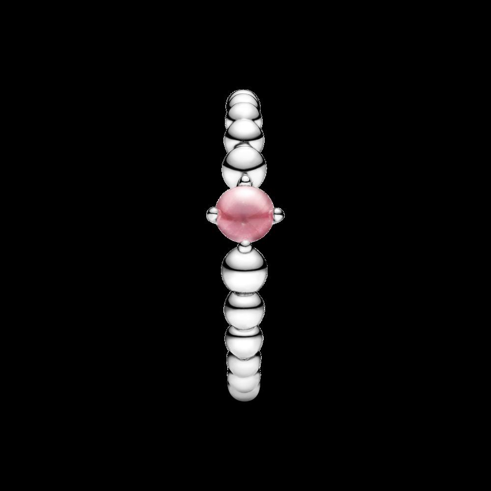 Каблучка з каменем квітково-рожевого кольору — фото 5