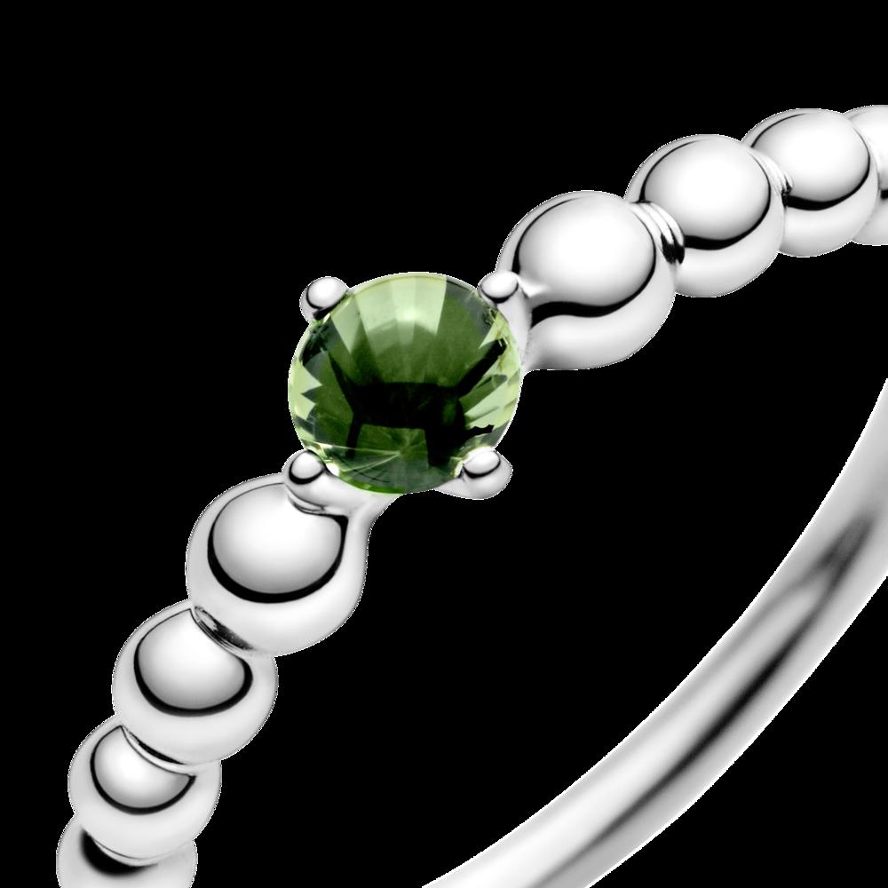 Каблучка з каменем весняно-зеленого кольору — фото 2