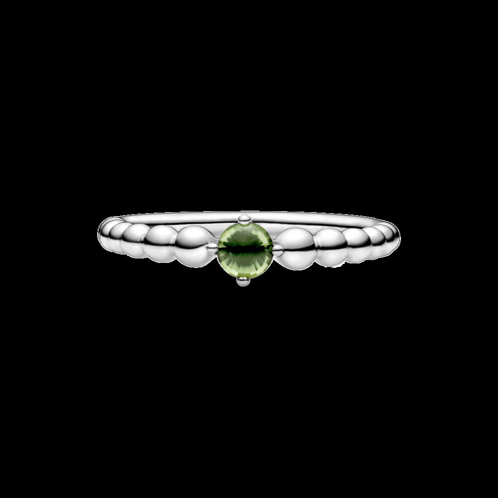 Каблучка з каменем весняно-зеленого кольору — фото 3