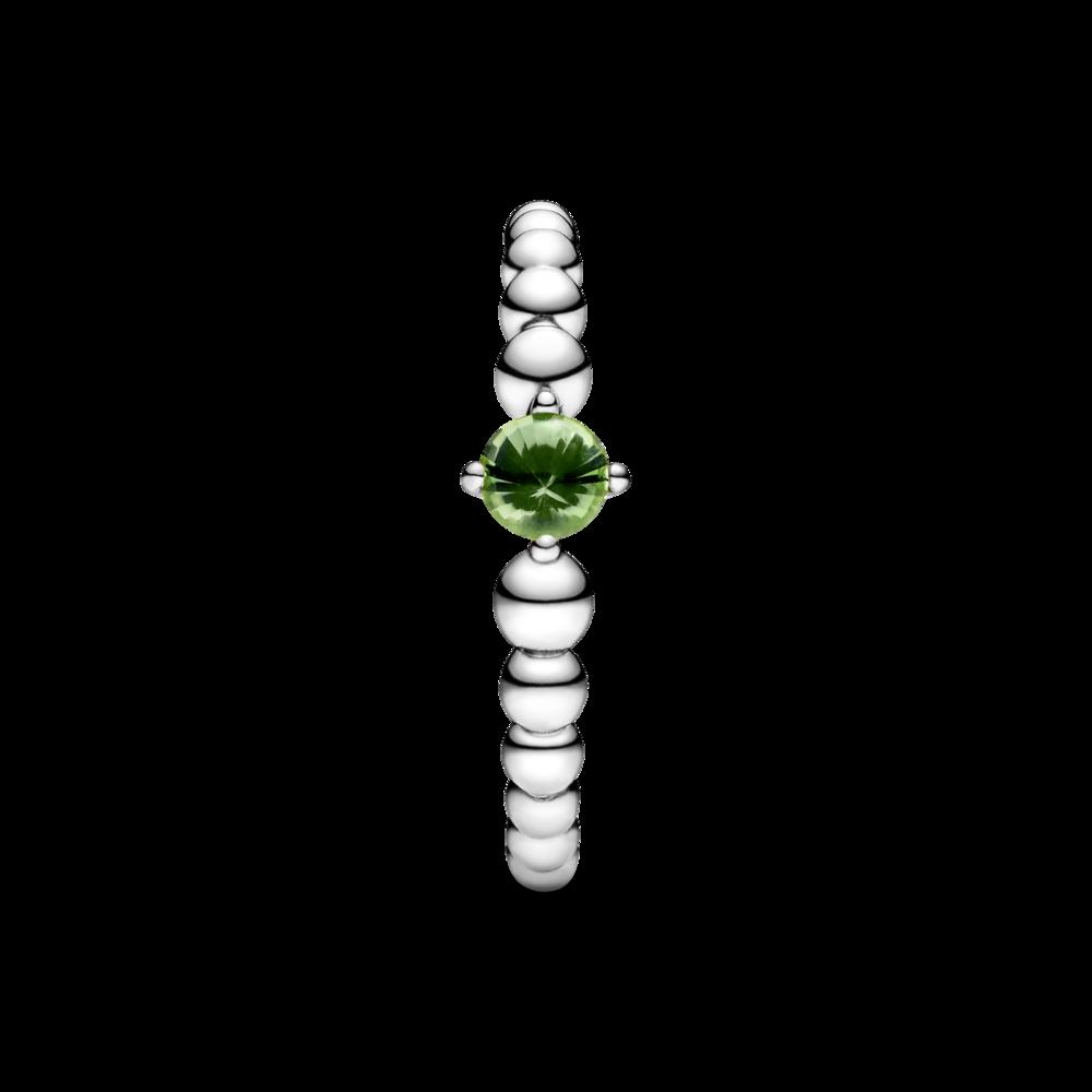 Каблучка з каменем весняно-зеленого кольору — фото 5