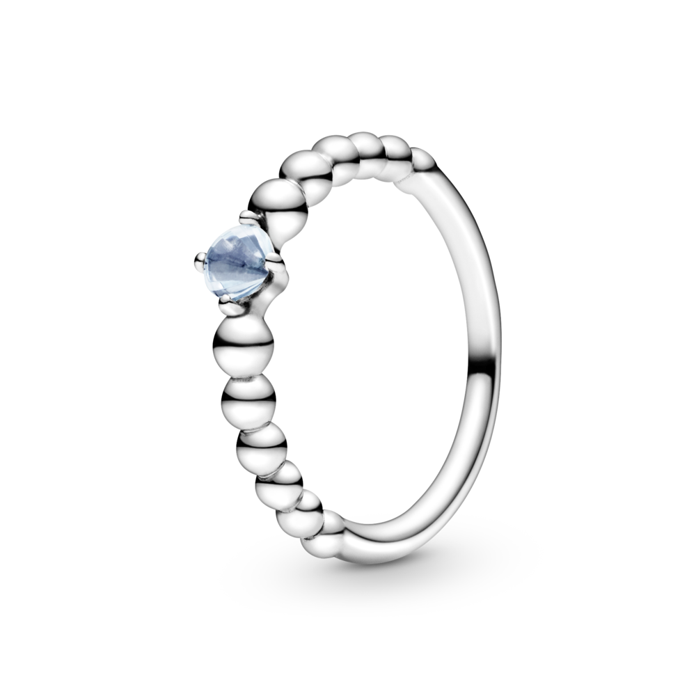 Каблучка з каменем блакитного кольору
