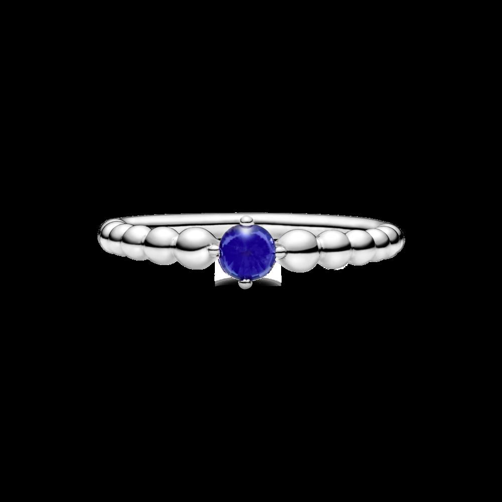 Каблучка з каменем синього кольору — фото 2
