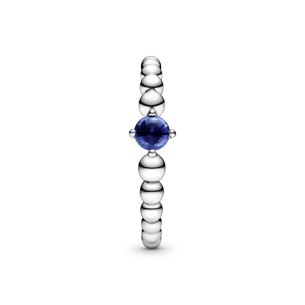 Каблучка з каменем синього кольору — фото 3
