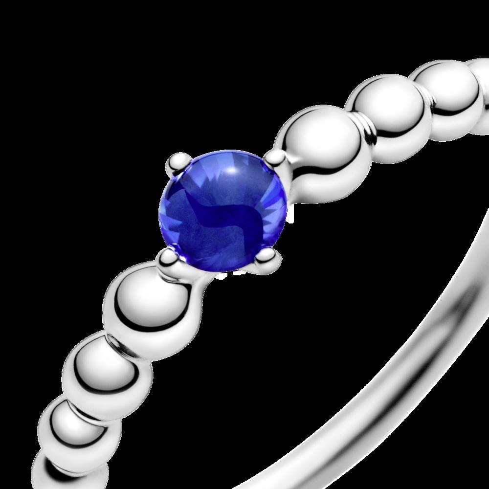 Каблучка з каменем синього кольору — фото 4