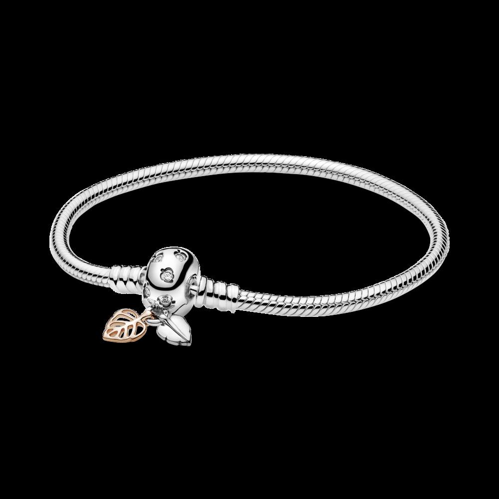 Срібний браслет з елементом Pandora Rose