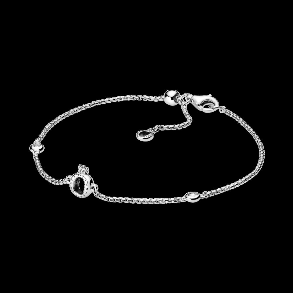 Срібний браслет з монограмою Pandora