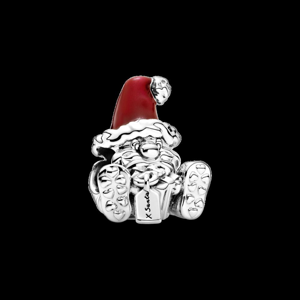 """Намистина """"Санта Клаус, що сидить із подарунком"""""""
