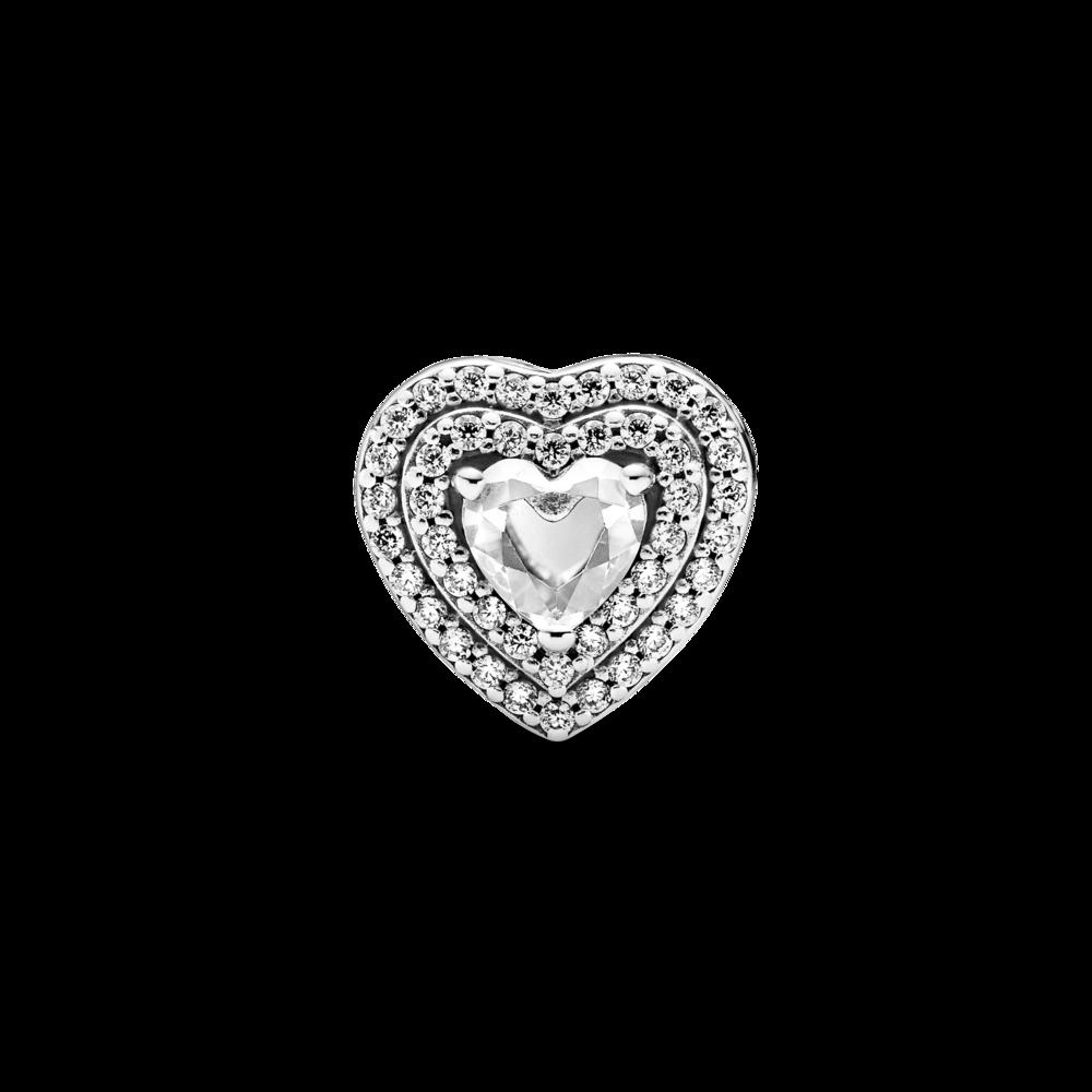 """Намистина """"Сяюче рельєфне серце"""""""