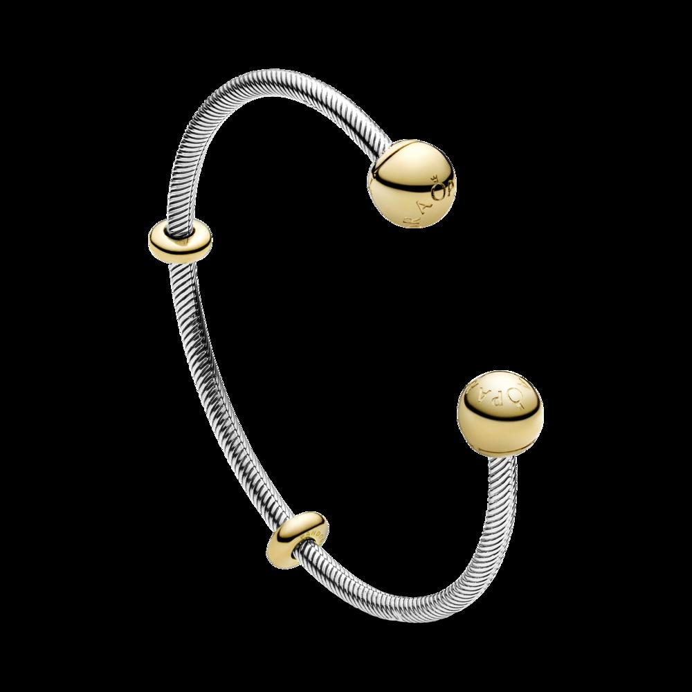 Срібний браслет-бангл із застібками Pandora Shine™