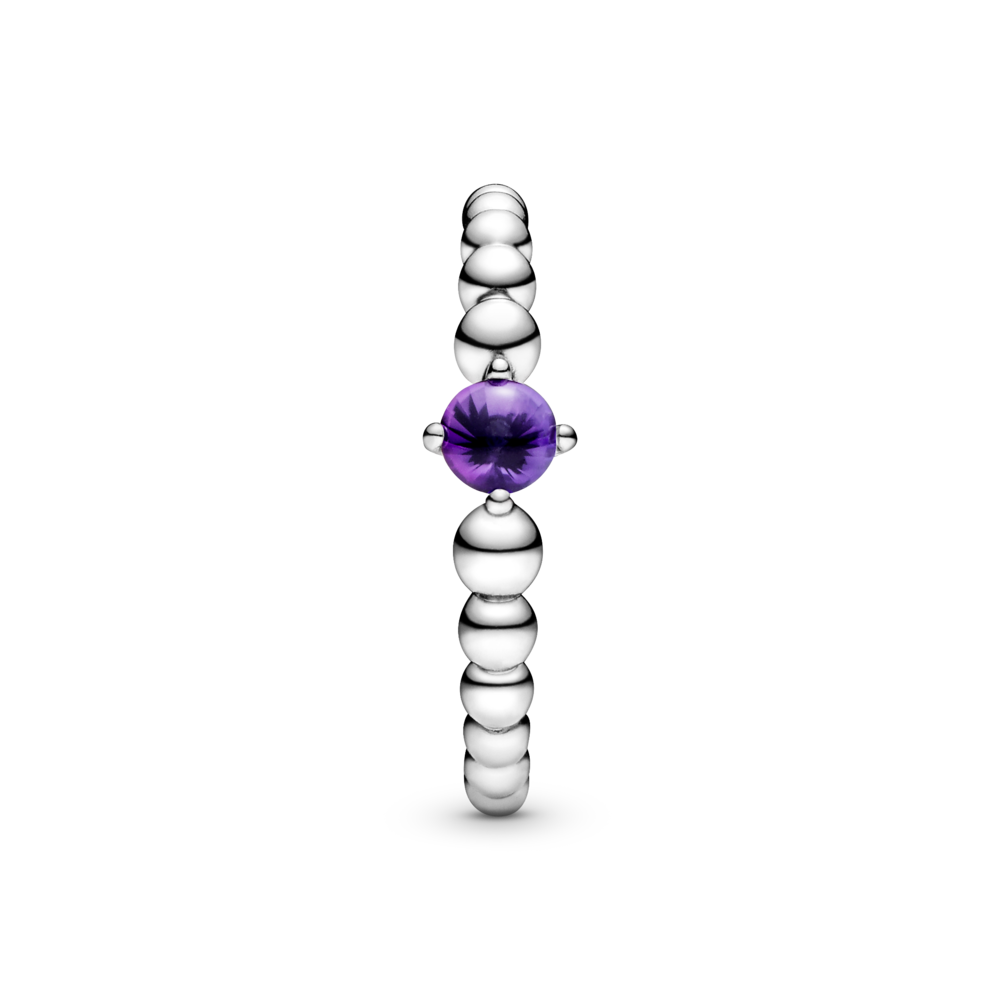 Каблучка з каменем лавандового кольору