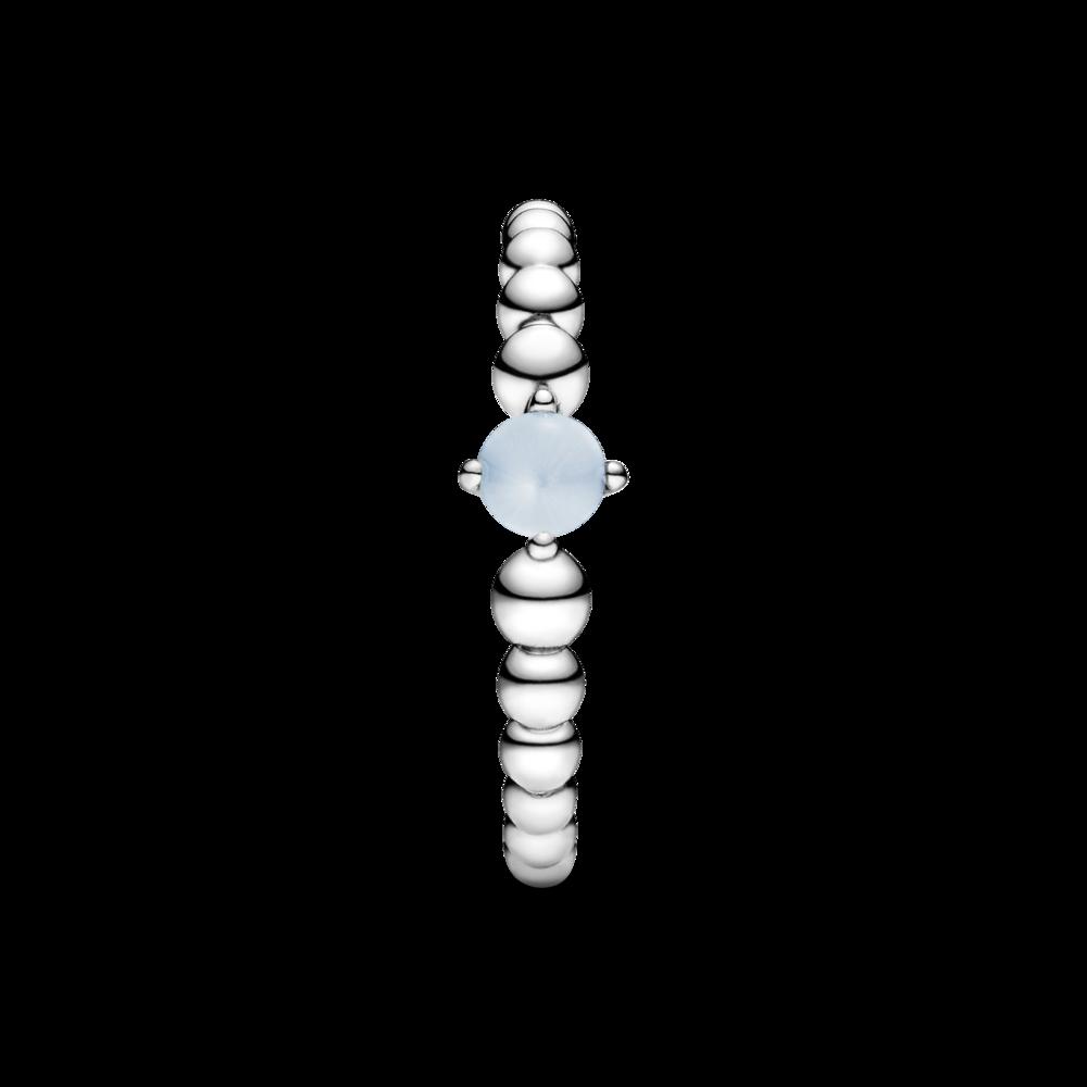 Каблучка з каменем небесно-блакитного кольору