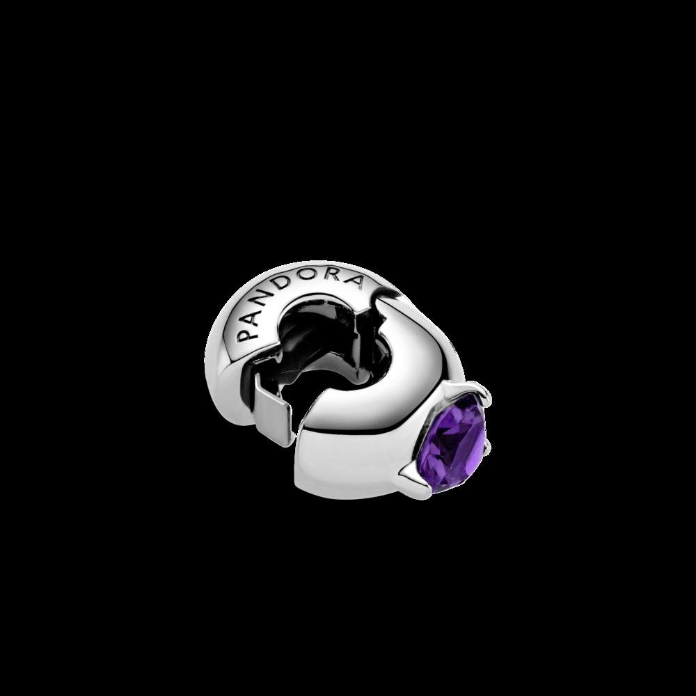 """Намистина """"Пурпуровий круглий солітер"""""""