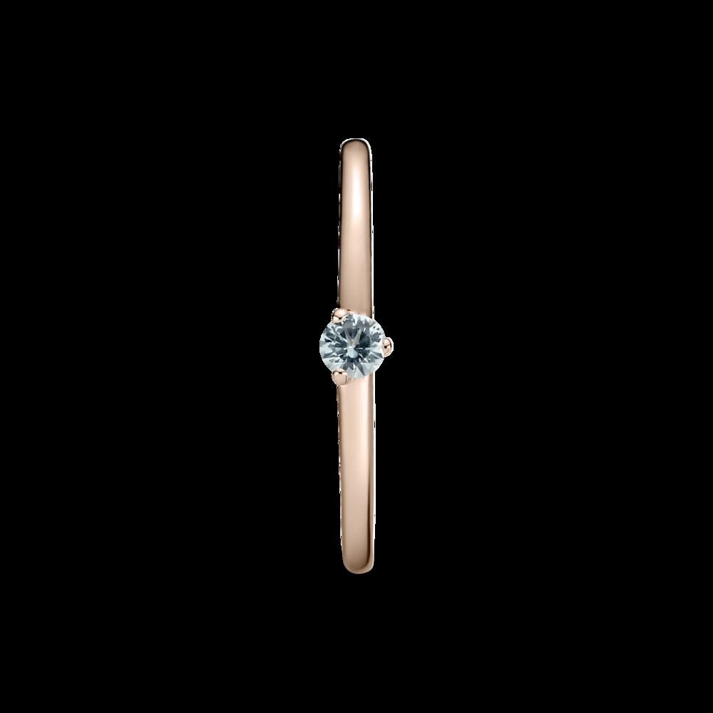 Каблучка-солітер з блакитним камінцем