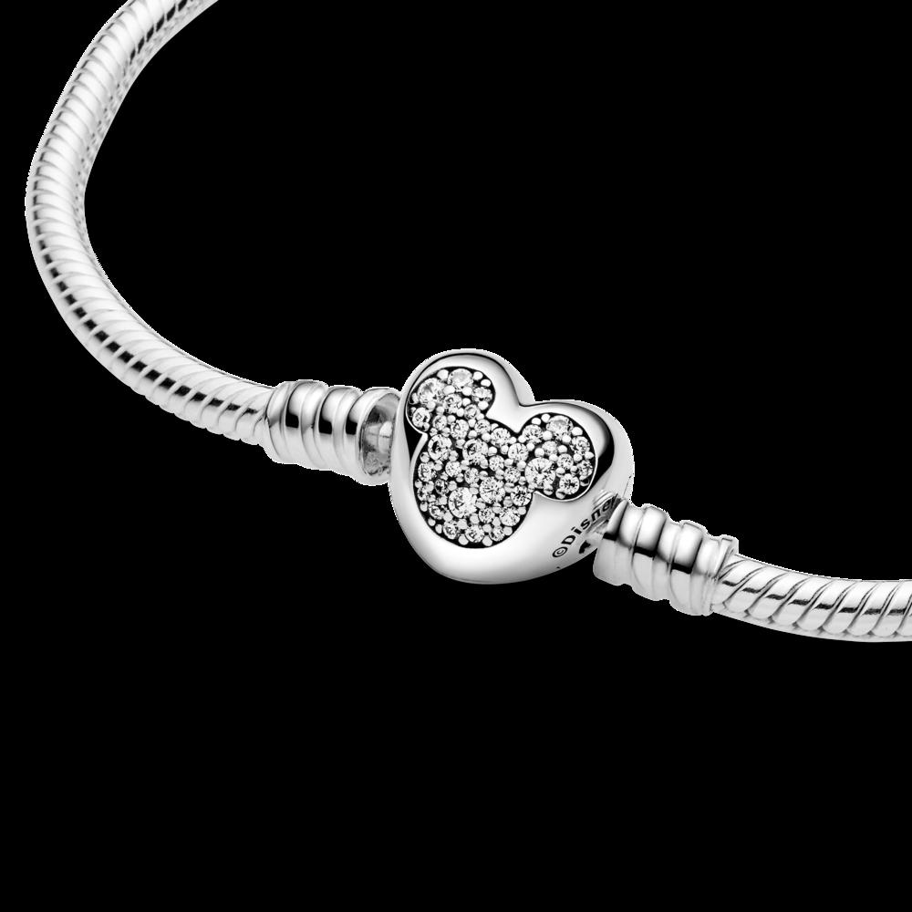 Браслет із застібкою-серцем із зображенням Міккі Мауса