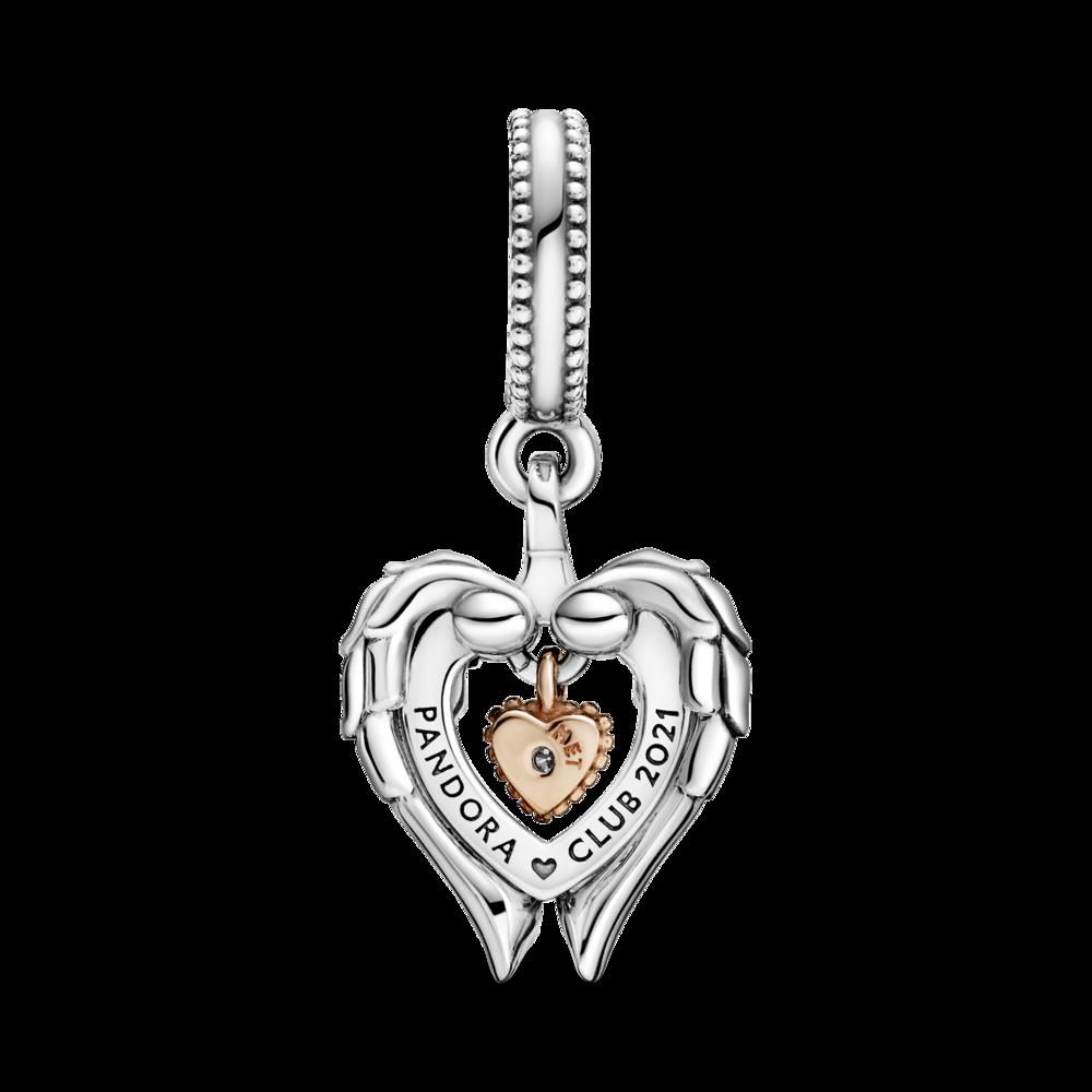 "Намистина клуба Pandora 2021 ""Серце з крилами ангела"""