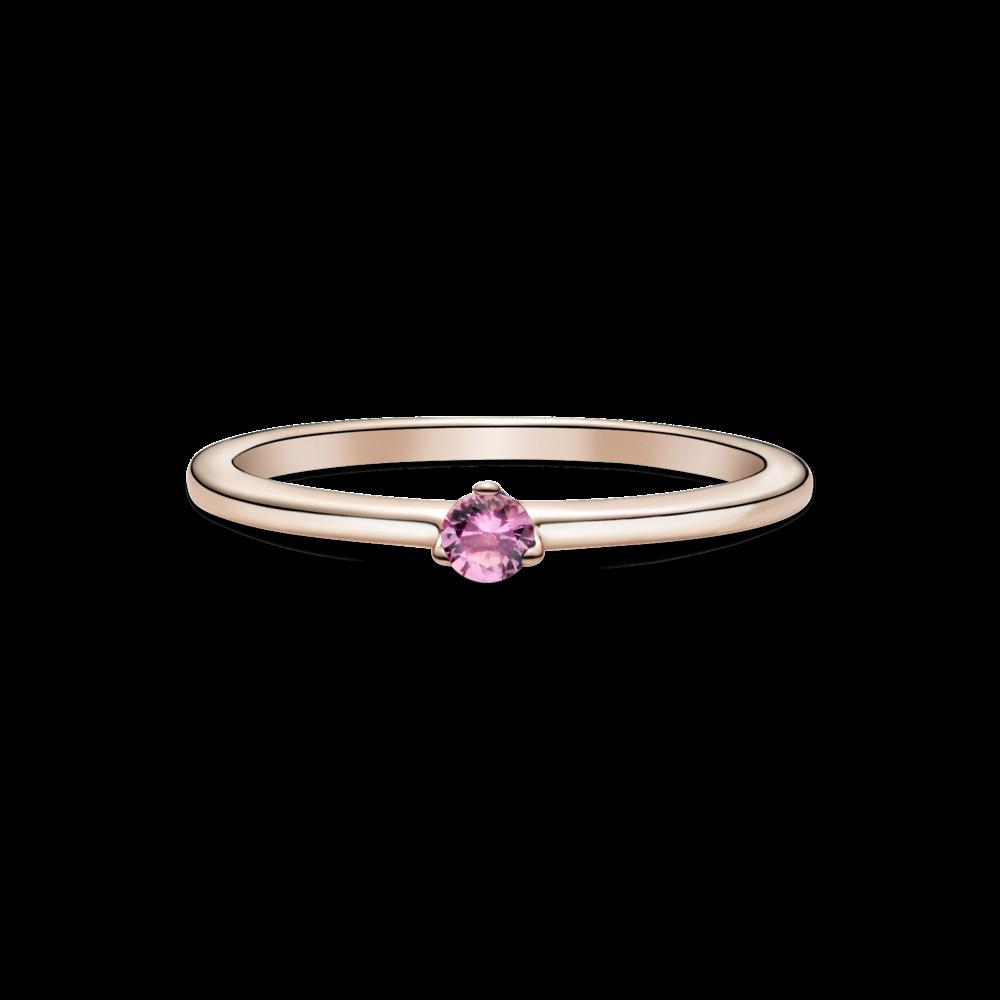 Каблучка з рожевим камінцем
