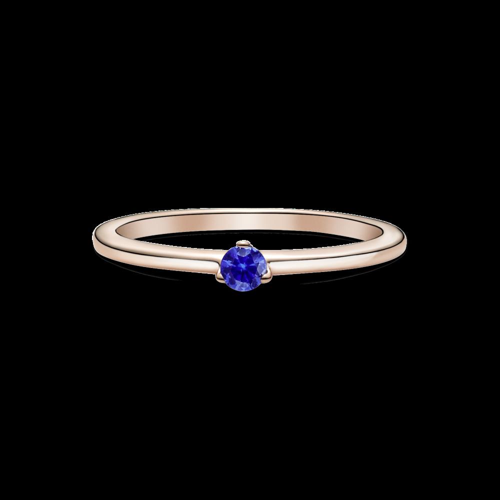 Каблучка з камінцем небесно-синього кольору
