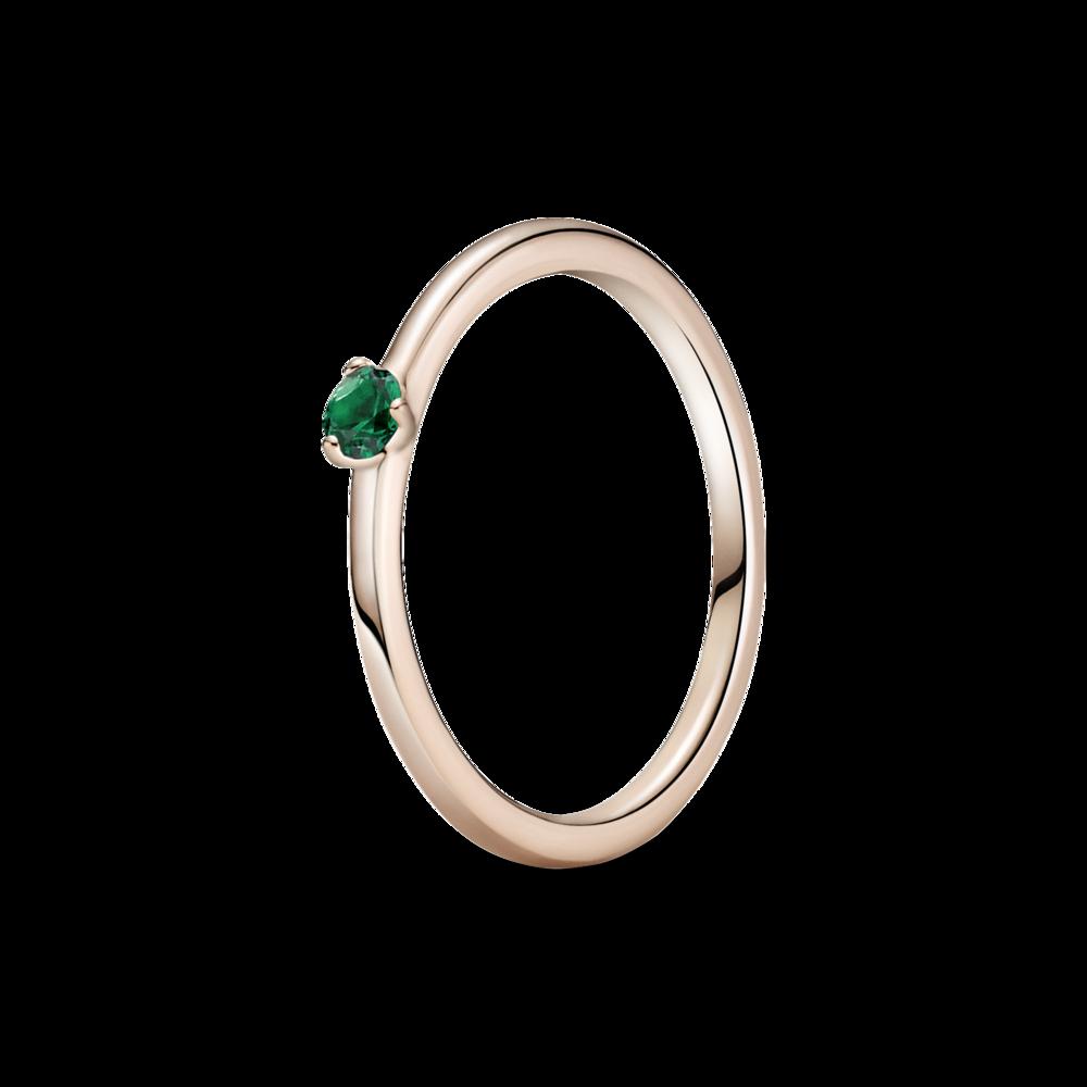 Каблучка із зеленим камінцем