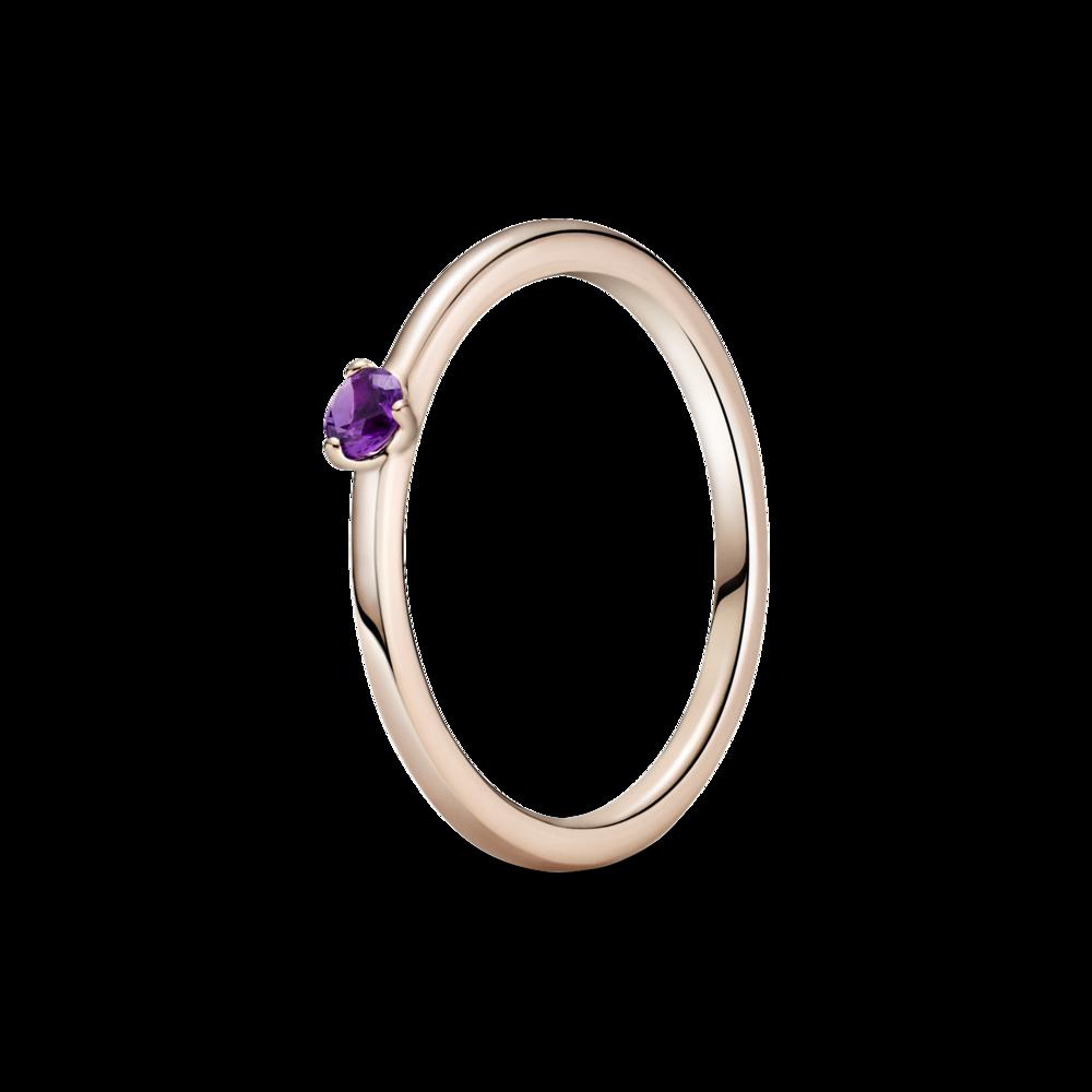 Каблучка з пурпуровим камінцем
