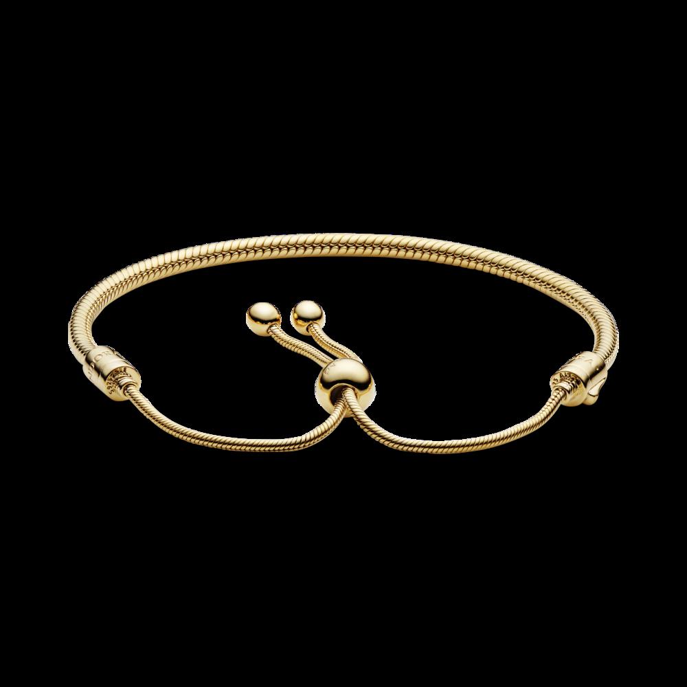 Браслет-слайдер зі сплаву з покриттям 14к золотом — фото 2