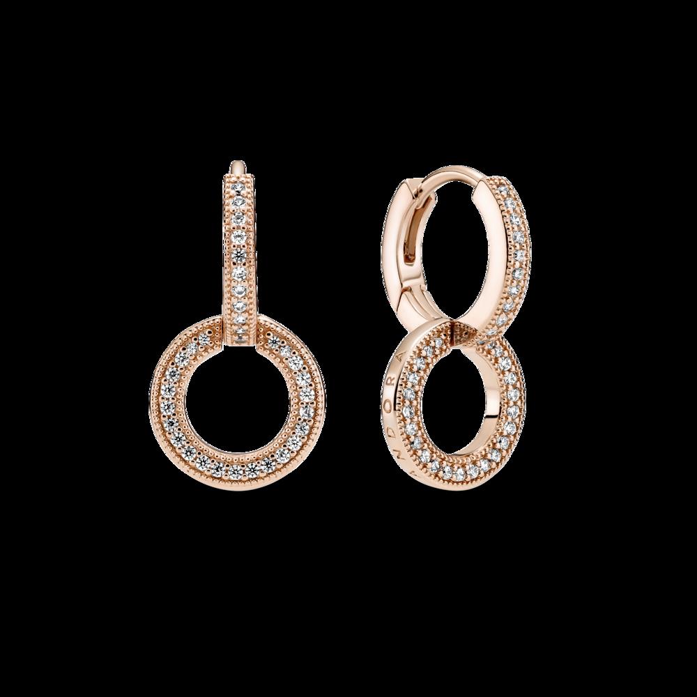 Сережки з подвійними кільцями — фото 1