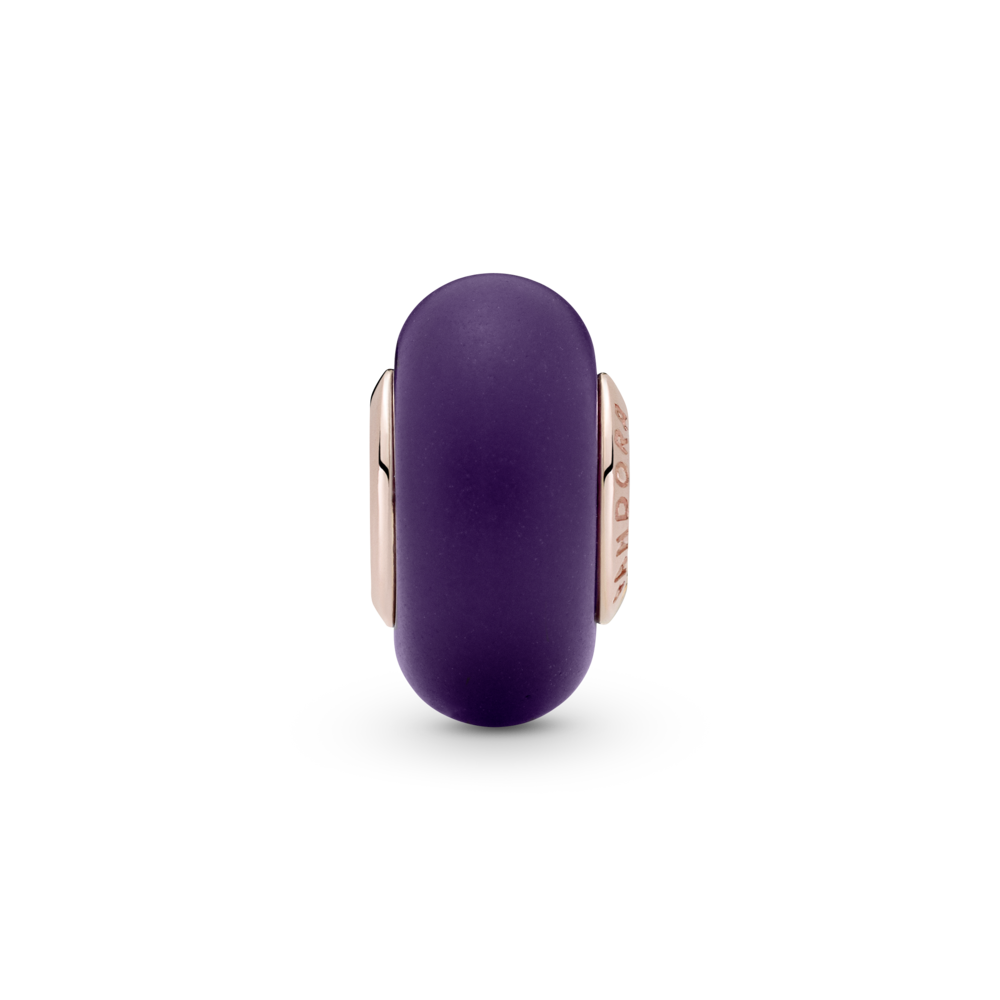 Намистина з муранським склом матового пурпурового кольору — фото 2