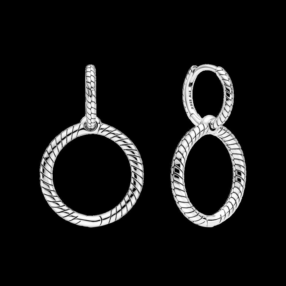 Сережки для намистин із двома кільцями