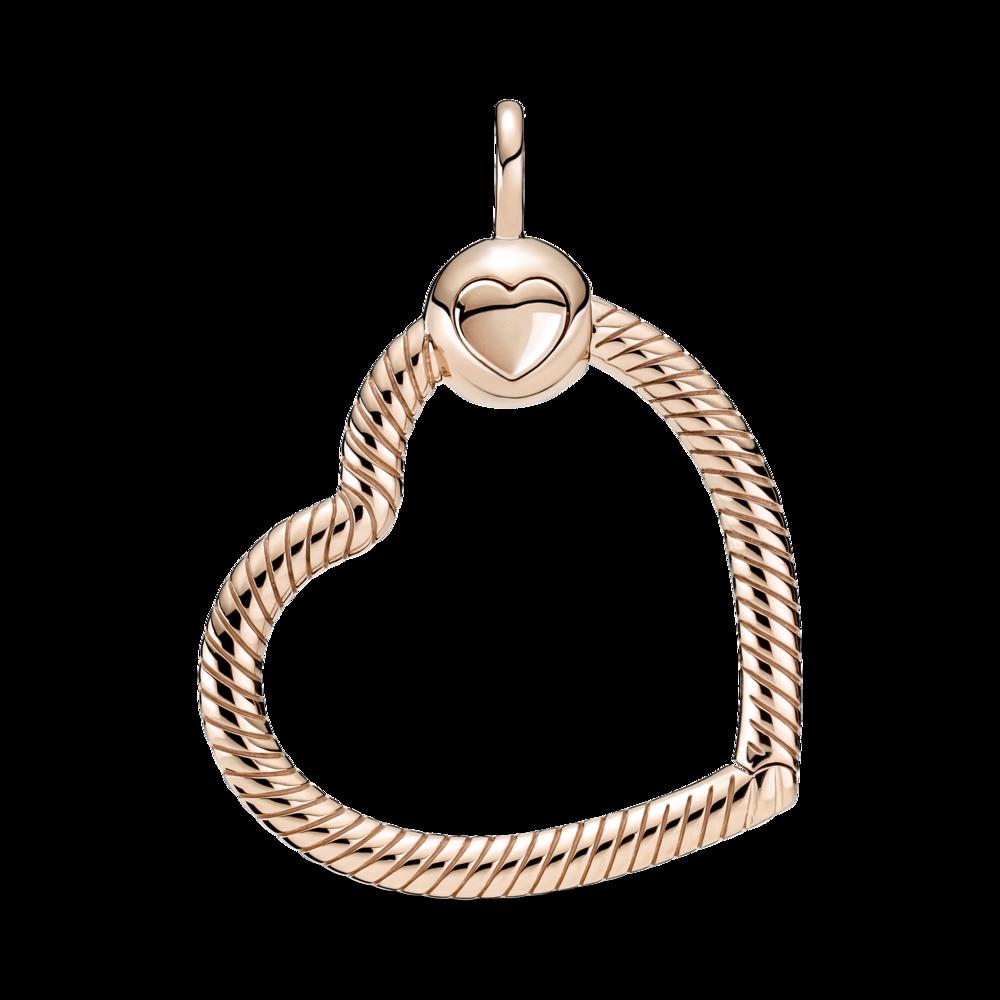 """Кулон """"O"""" серце з покриттям 14K рожевим золотом — фото 2"""