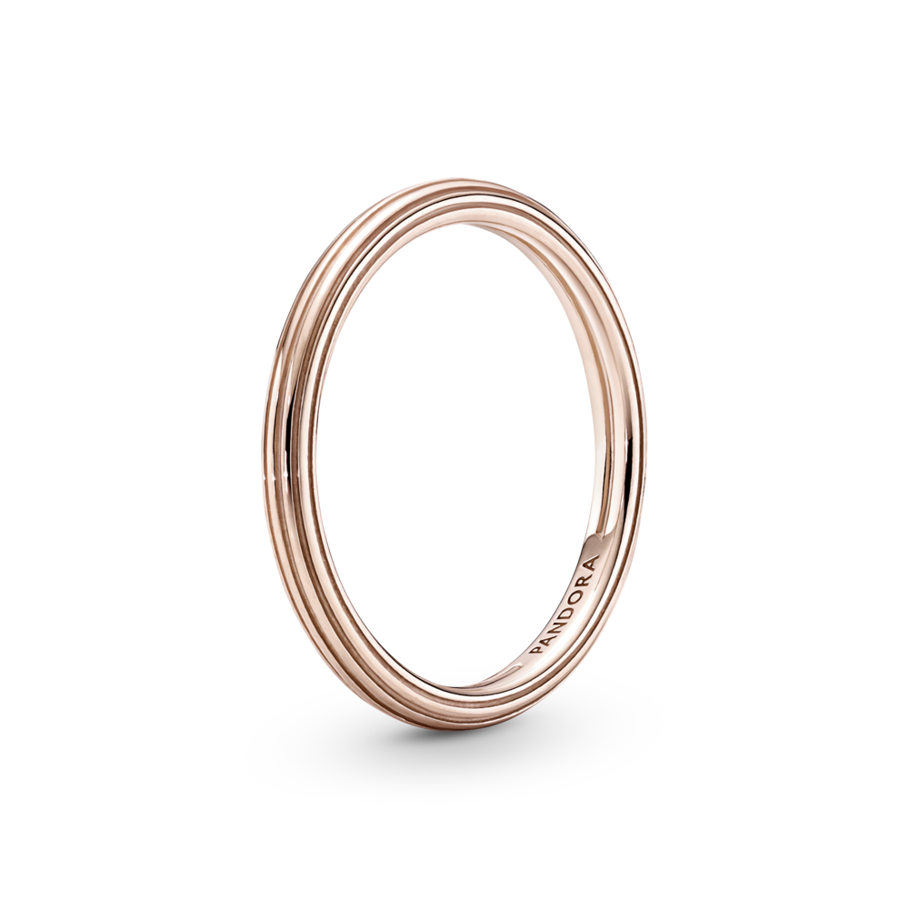 Каблучка Pandora ME з покриттям 14k рожевим золотом