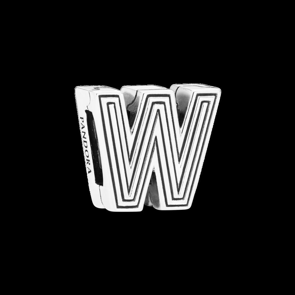"Намистина ""Літера W"" Pandora Reflexions"