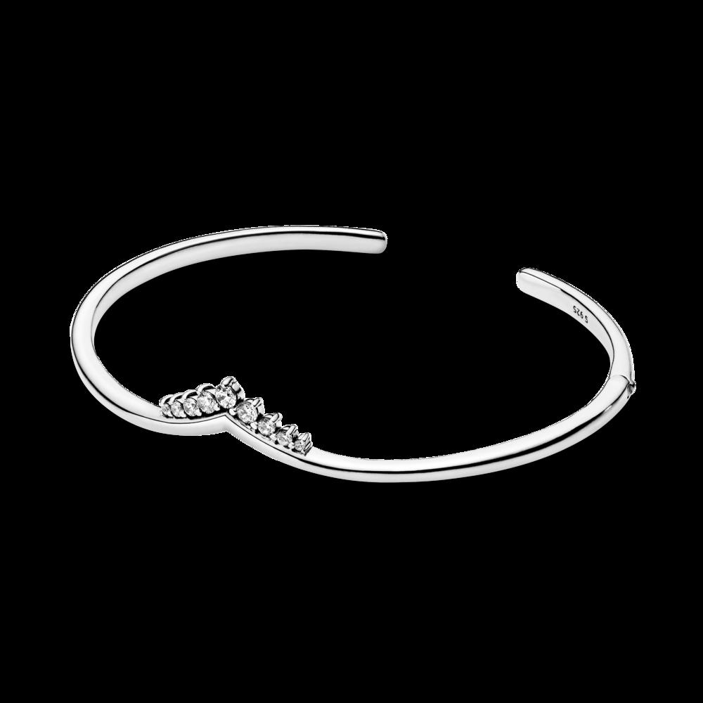 Срібний браслет-бангл Pandora Wish