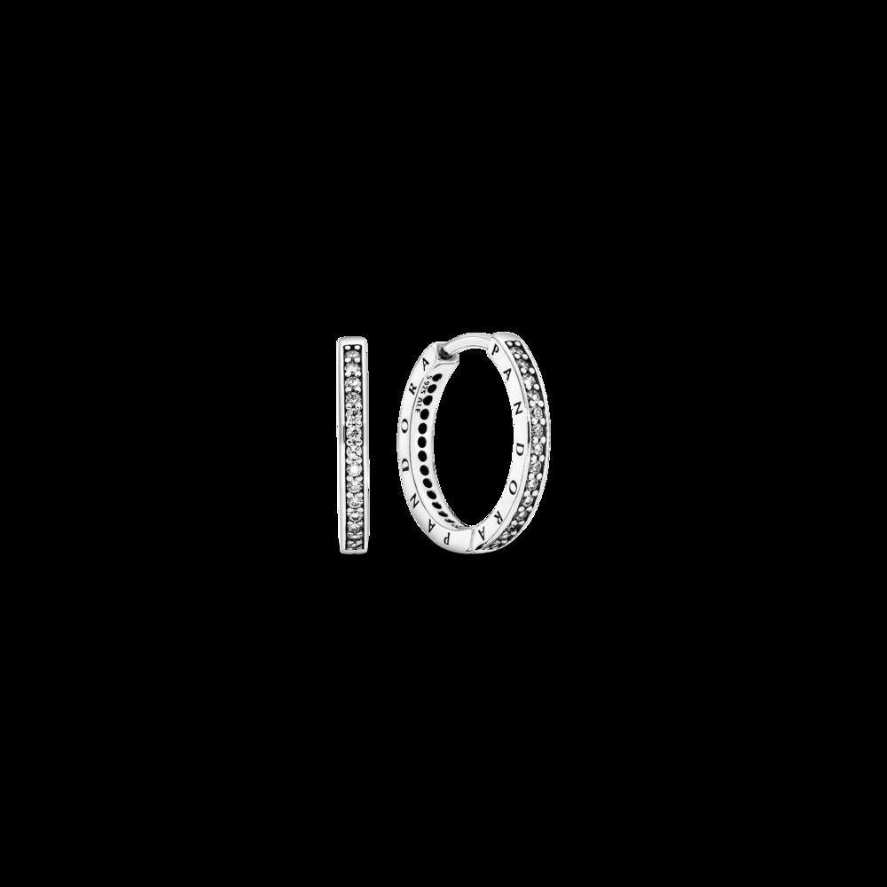 Сережки сяючі з логотипом Pandora — фото 1