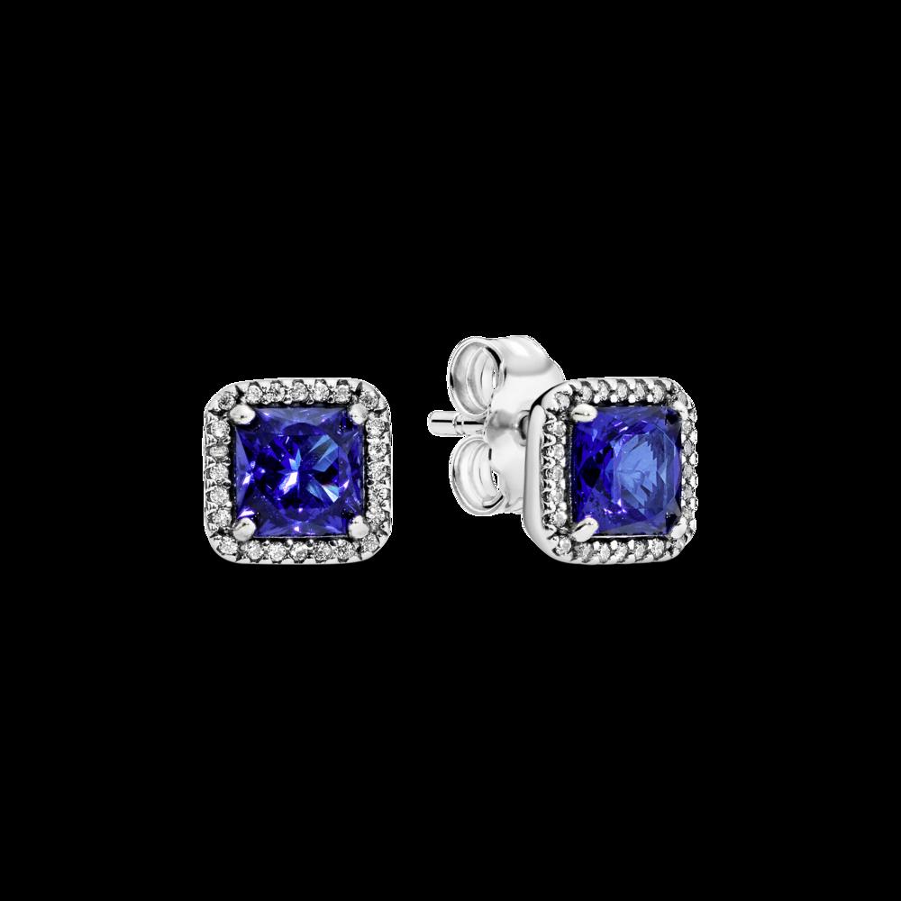 """Сережки """"Класична елегантність у синьому кольорі"""" — фото 1"""