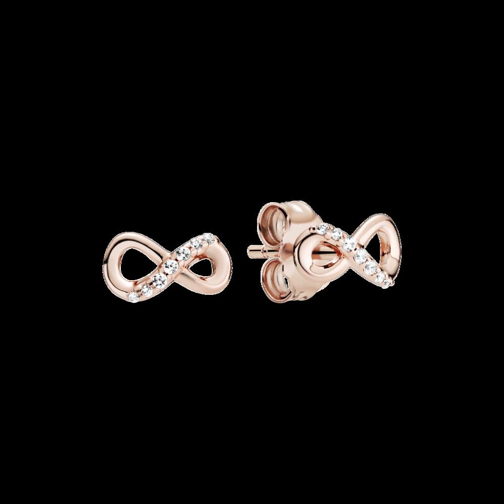 """Сережки """"Сяючий символ нескінченності"""" Pandora Rose"""